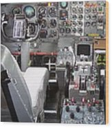 Jet Cockpit Wood Print