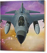 Jet Fighter Aircraft F-16 Falcon Aircraft  Wood Print