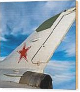 Jet Fighter Wood Print