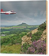 Jet Provost Over The Cleveland Hills Wood Print