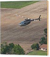 Jet Ranger Flyby Wood Print