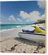 Jet Ski On The Beach At Atlantis Resort Wood Print by Amy Cicconi