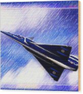 Jet Speed Wood Print