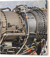Jet Turbine Engine  Wood Print