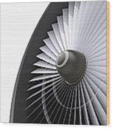 Jet Turbine Wood Print