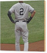Jeter 2 Wood Print by Stephen Melcher