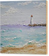 Jetty Lighthouse Wood Print