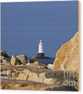 Jetty View Sakonnet Pt. Light II Wood Print