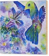 Jewel In Flight Wood Print