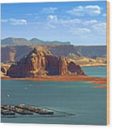 Jewel In The Desert - Lake Powell Wood Print by Christine Till