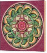 Jewel Of The Heart Mandala Wood Print