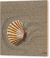 Jewel On The Beach II Wood Print