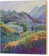 Jeweled Hills Wood Print