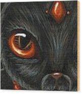 Jeweled Kitty 9 Carnelian Wood Print