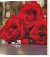 Jewelry And Roses Wood Print