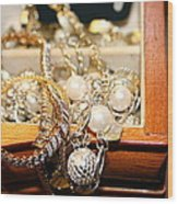 Jewelry Collections Wood Print by Ester  Rogers