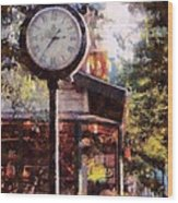 Jewelry Square Clock Milford  Wood Print