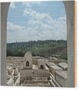 Jewish Cemetery In Morocco Wood Print