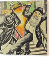 Jewish Holiday  Wood Print by Mimi Eskenazi