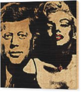 Jfk And Marilyn Wood Print
