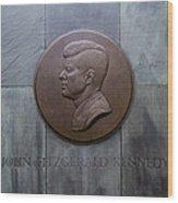 Jfk Memorial Wood Print