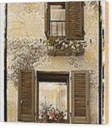 Orvieto Window Polaroid Wood Print