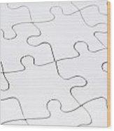 Jigsaw Puzzle Blank Wood Print