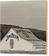 Jim Beam - D008291-bw Wood Print