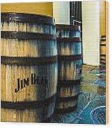 Jim Beam Wood Print by Jeff Tureaud