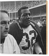 Jim Brown Post Game  Wood Print by Retro Images Archive