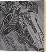 Jim Clark At Monaco 64 Wood Print