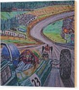 Jim Clark The King Of Spa Wood Print
