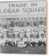 Logan Squares Semi-pro  Wood Print by Retro Images Archive