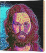 Jim Morrison 20130329 Square Wood Print by Wingsdomain Art and Photography
