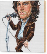 Jim Morrison Wood Print by Art