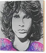Jim Morrison Wood Print