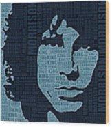 Jim Morrison The Doors Wood Print