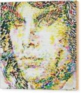 Jim Morrison Watercolor Portrait.2 Wood Print
