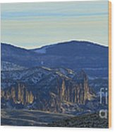 Jim Mountain Lava Field   #9037 Wood Print