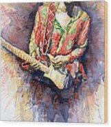 Jimi Hendrix 09 Wood Print
