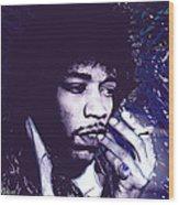 Jimi Hendrix Purple Haze  Wood Print