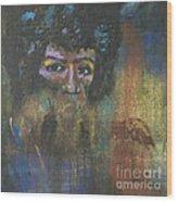 Jimi Hendrix Wood Print by Vic  Mastis