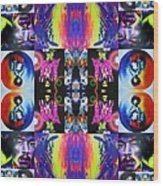 Jimi Kaleidoscope I Wood Print
