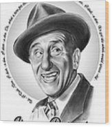 Jimmy Durante Wood Print