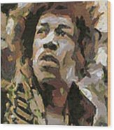 Jimmy Hendrix Wood Print