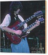 Jimmy Page 1983 Wood Print
