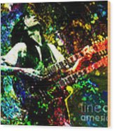 Jimmy Page - Led Zeppelin - Original Painting Print Wood Print