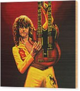 Jimmy Page Painting Wood Print