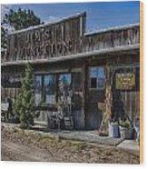 Jim's Junction Storefront Wood Print