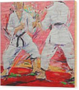 Jiyu Kumite Wood Print